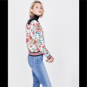 Olivia Culpo Le tote reversible varsity jacket S
